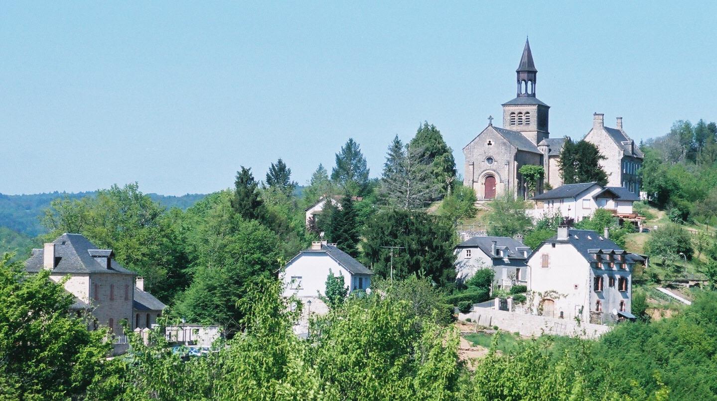 vue de loin Bar en Corrèze