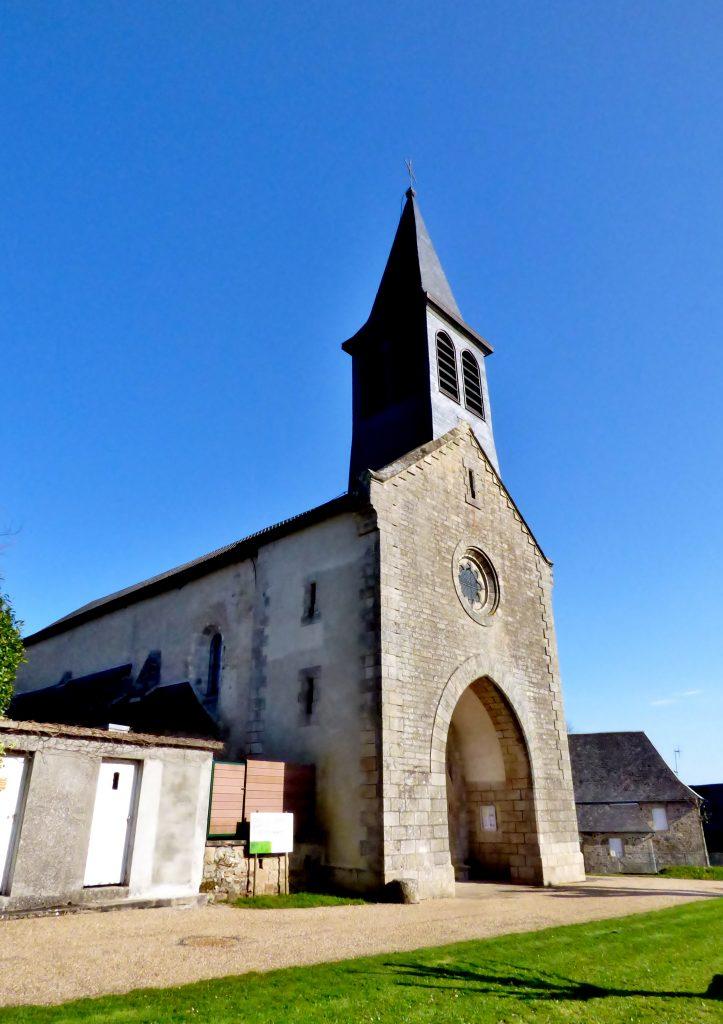 Église Saint-Laurent contre plongée