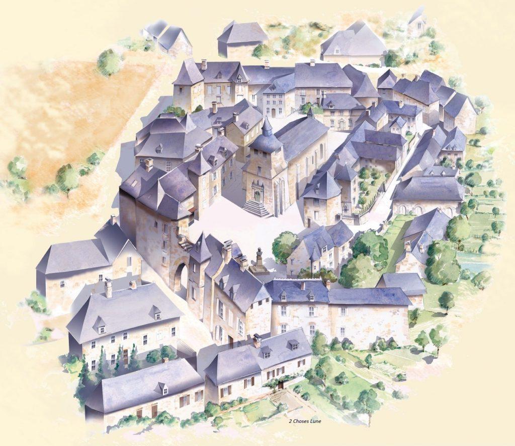 Commune de Corrèze dessin