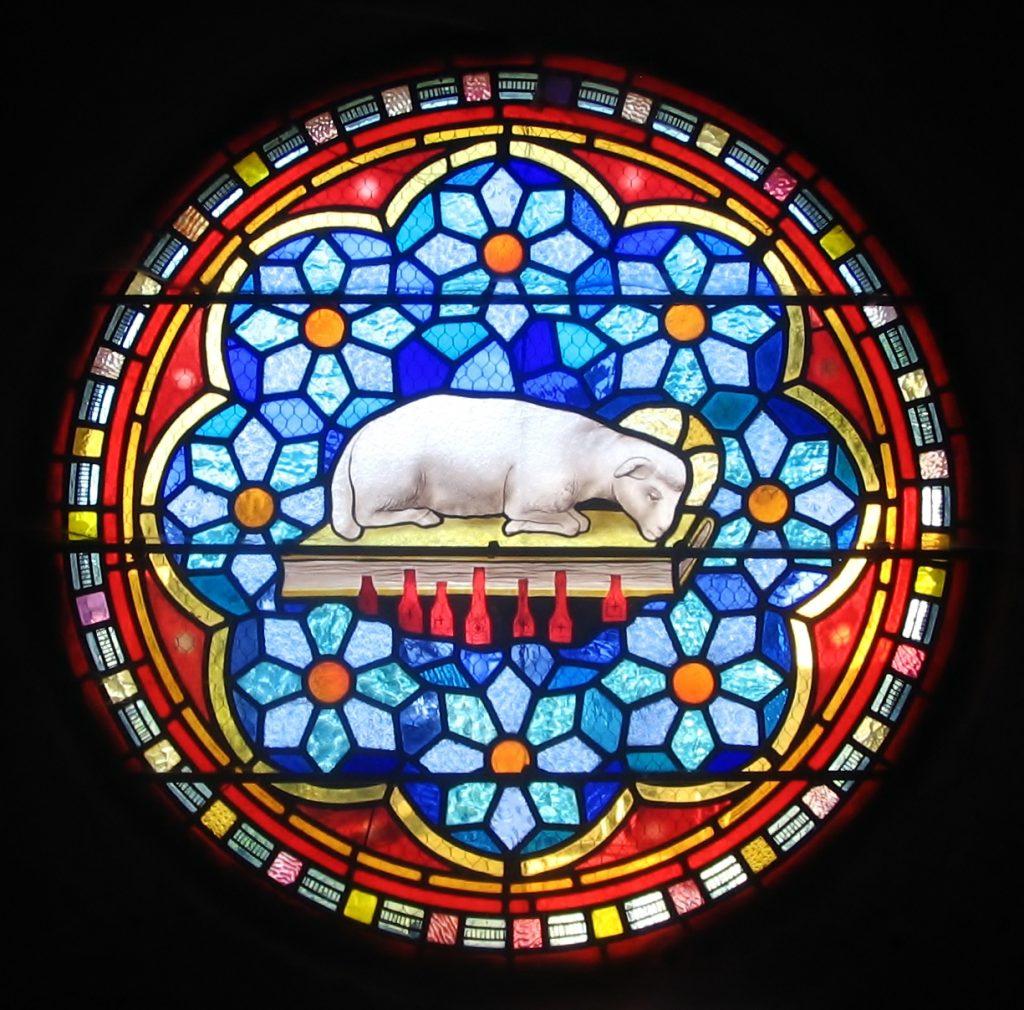 vitraux agneau divin