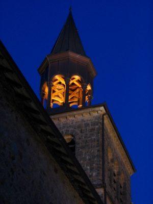 église de nuit de Bar Corrèze