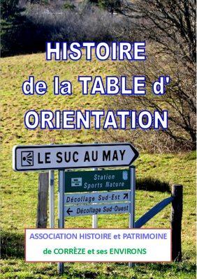 Livre Histoire de la table d'orientation